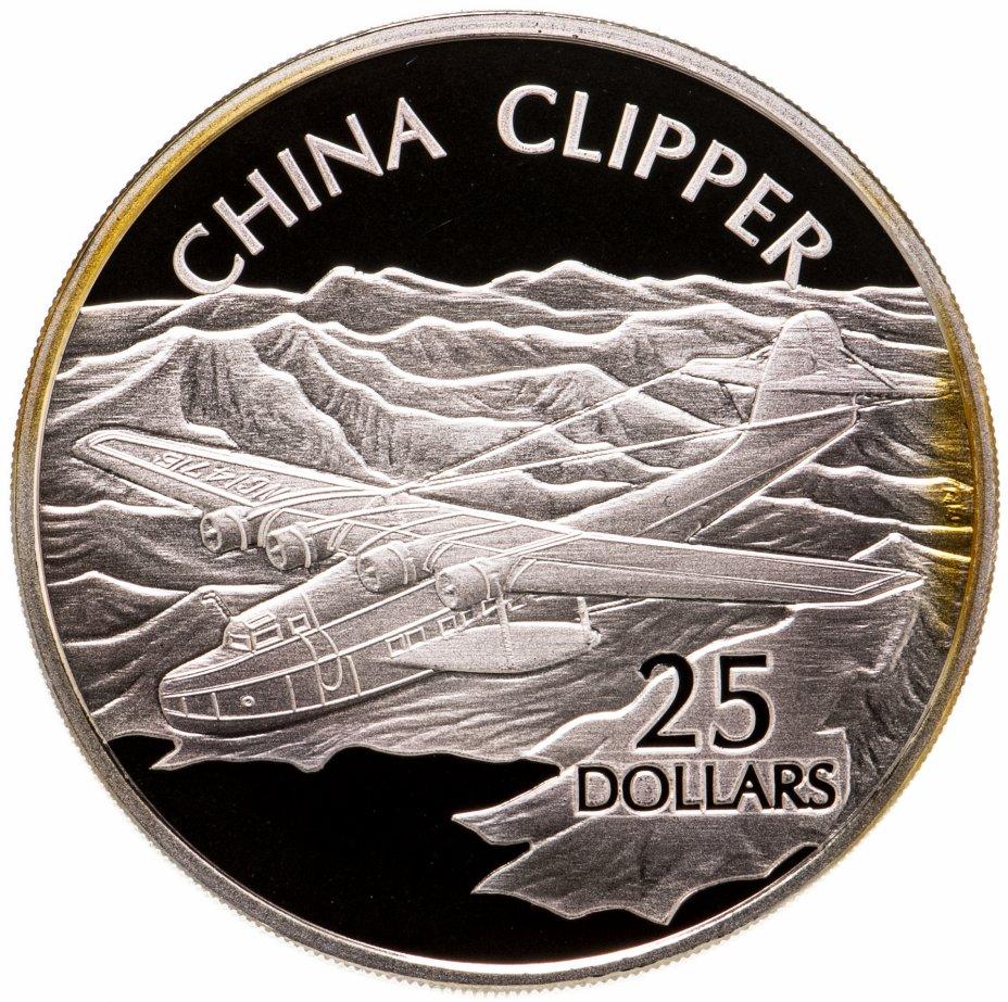 купить Соломоновы Острова 25 долларов (dollars) 2003  Самолёты - Martin M-130 China Clipper