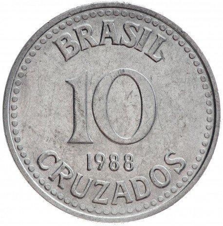 купить 10 крузадо 1988 Бразилия