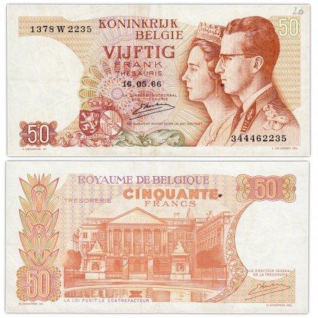купить Бельгия 50 франков 1966 (Pick 139(3))