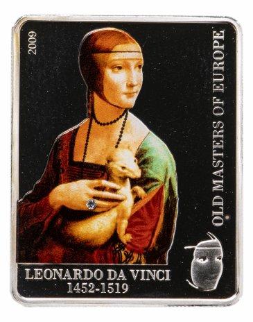 купить Острова Кука 5 долларов 2009 «Великие мастера Европы-Дама с горностаем»