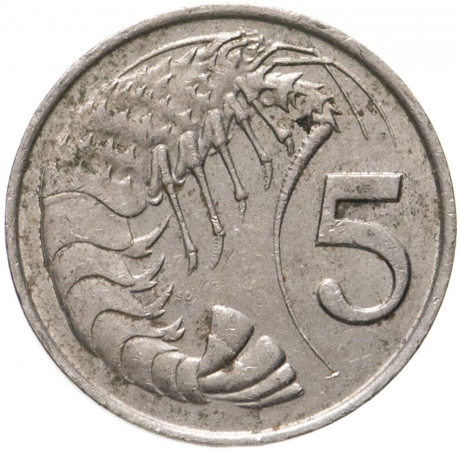 купить Каймановы острова 5 центов (cents) 1987-1990, случайная дата