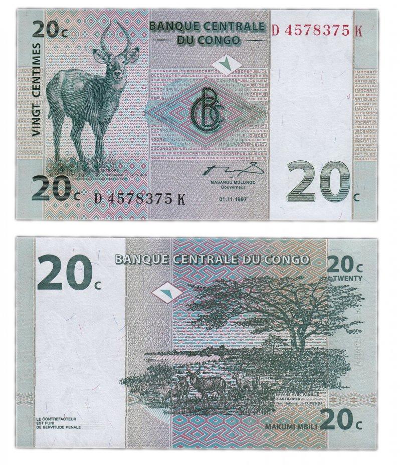 купить Конго 20 сантим 1997 (Pick 83)