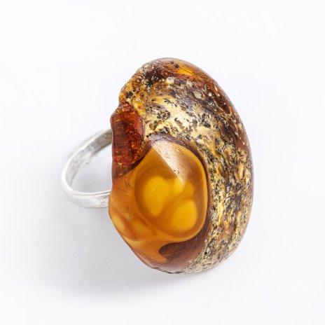 купить Кольцо с янтарной вставкой, плавленый янтарь, металл, СССР, 1960-1990 гг.