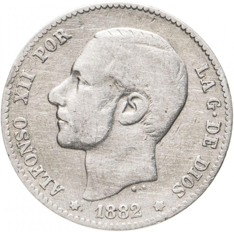 купить Испания 1песета (peseta) 1882