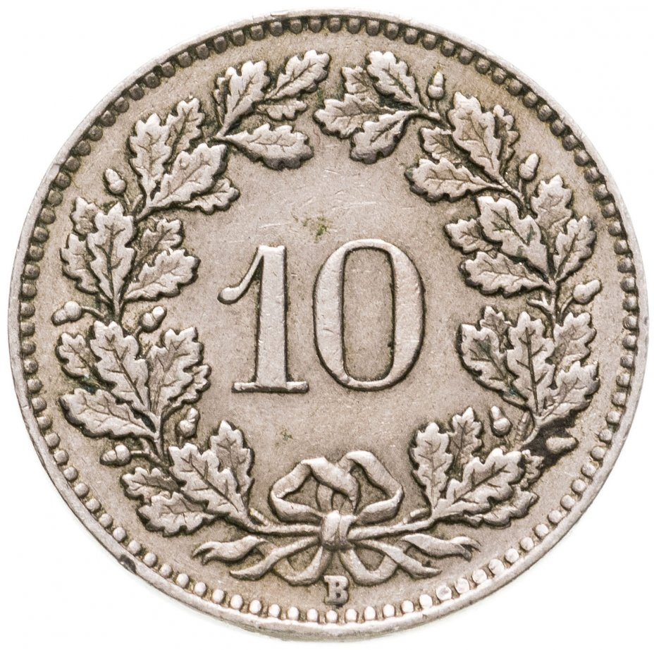 купить Швейцария 10 раппенов (rappen) 1943