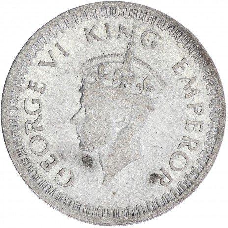 купить Индия 1/2 рупии 1943