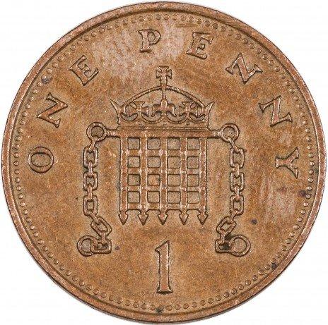 купить Англия 1 пенни 1986