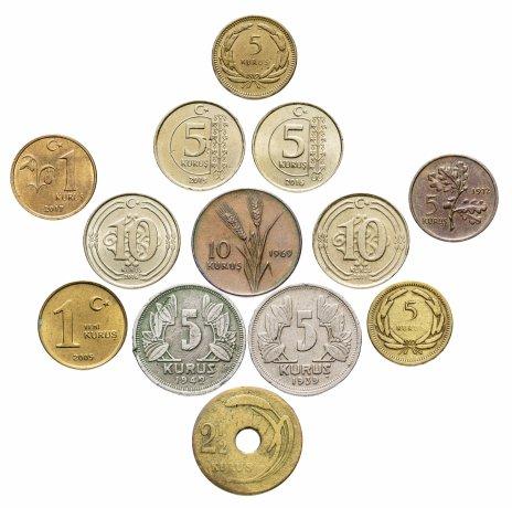 купить Турция набор из 13 монет 1939-2017