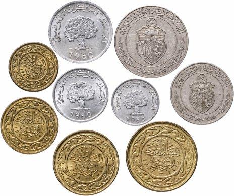 купить Тунис, набор из 9 монет 1960-1997