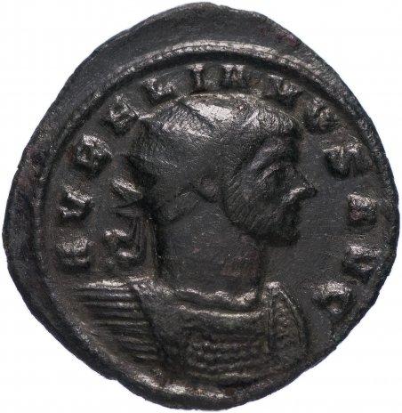 купить Римская Империя Аврелиан 270–275 гг антониниан (реверс: Сол идет влево, попирает ногой одного из двух пленников)