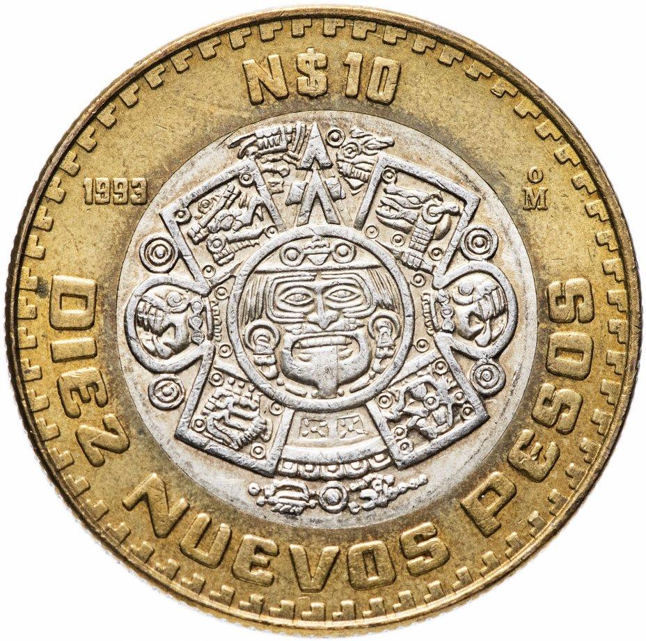 купить Мексика 10 новых песо 1993