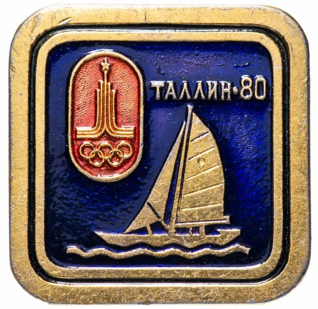 "купить Значок СССР 1980 г""Олимпиада, Таллин-80"", булавка"