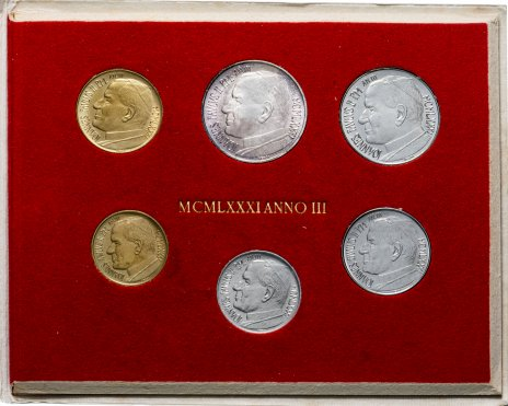 купить Ватикан годовой набор из 6 монет 1981 Папа Иоанн Павел II