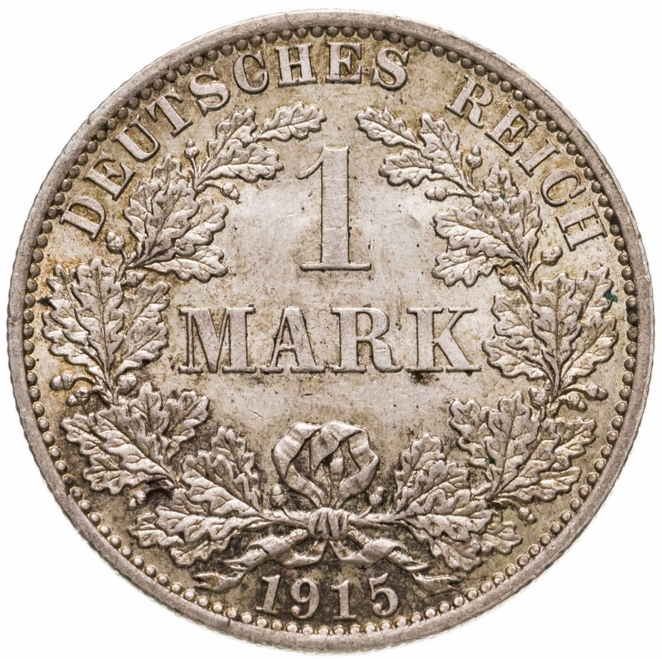 """купить Германия 1 марка (mark) 1915 A  знак монетного двора: """"A"""" - Берлин"""