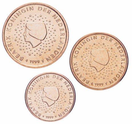 купить Нидерланды набор монет от 1 до 5 евро центов 1999 (3 штуки)