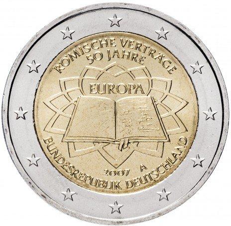 """купить Германия 2 евро 2007 A """"50 лет Римскому договору"""""""