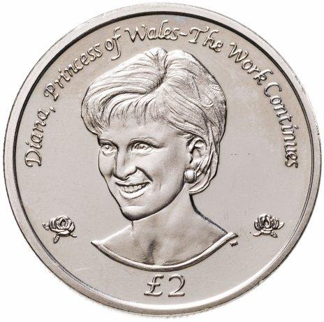 """купить Южная Георгия 2 фунта 2002 """"Диана, Принцесса Уэльская"""""""