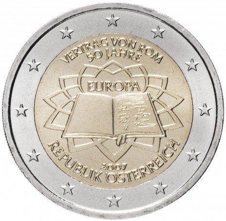 """купить Австрия 2 евро 2007 """"50 лет Римскому договору"""""""