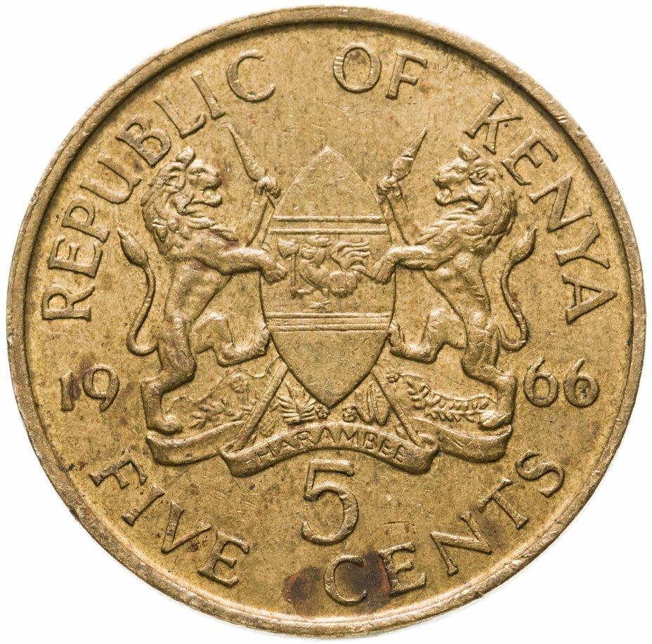 купить Кения 5 центов (cents) 1966