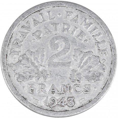 купить Франция 2 франка 1943