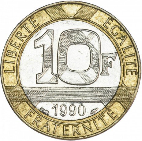 купить Франция 10 франков 1990