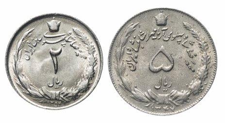 купить Иран набор монет 2 и 5 риалов 1968-1977