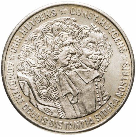 купить Нидерланды 2 1/2 экю 1989 Константин и Кристиан Гюйгенс