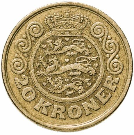 купить Дания 20 крон (kroner) 1990