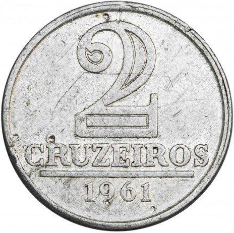купить Бразилия 2 крузейро 1961