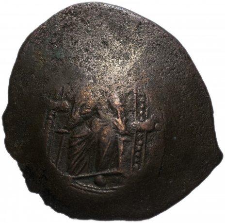 купить Византия, Исаак II Ангел 1185–1195 гг аспрон трахи, выпукло-вогнутая форма