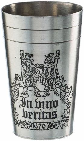 """купить Бокал для вина """"Истина в вине"""", олово, гравировка, Германия, 1970-1990 гг."""