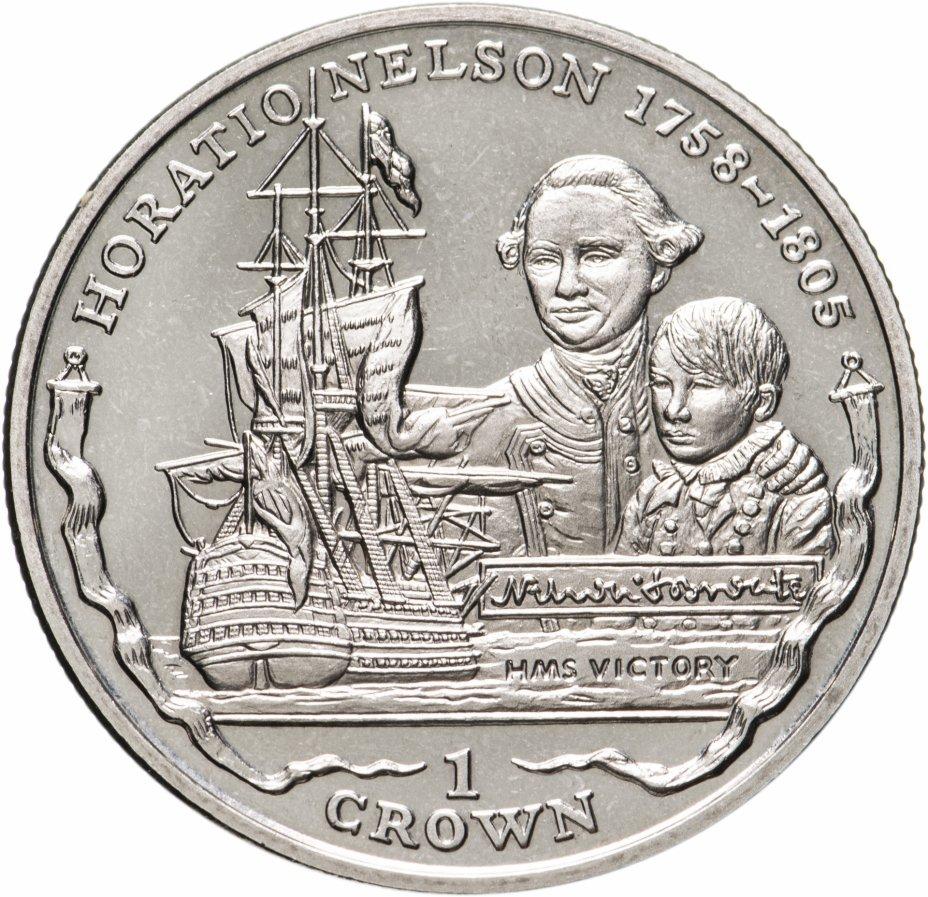 """купить Фолклендские острова 1 крона (crown) 2005 """"Горацио Нельсон"""""""