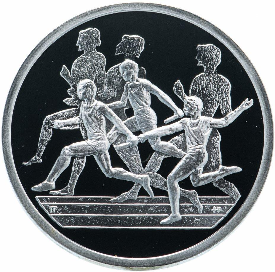 """купить Греция 10 евро 2004 """"XXVIII летние Олимпийские Игры, Афины 2004 - эстафета"""" в футляре"""