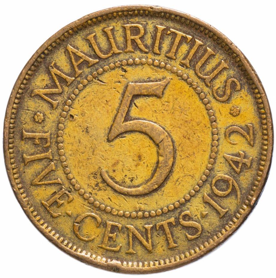 купить Маврикий 5 центов (cents) 1942