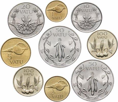 купить Вануату набор из 9 монет 1990-2002