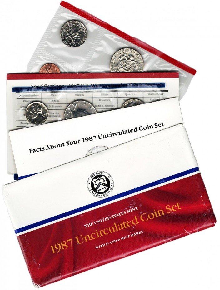купить США годовой набор 1987 P+D (10 монет+2 жетона)