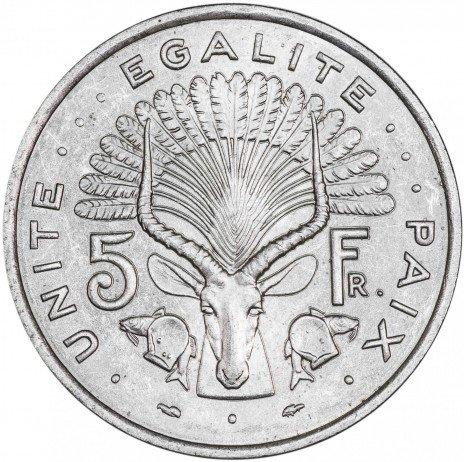 купить Джибути 5 франков 1977