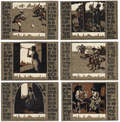 купить Германия (Саксония: Делич) набор из 6 нотгельдов 1921