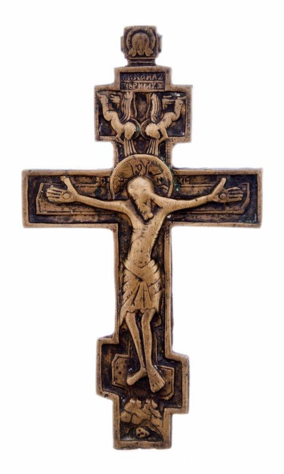 """купить Крест """"Распятие Христово"""", бронза, литье, Российская Империя, 1880-1900 гг."""