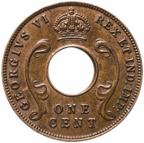 купить Британская Восточная Африка 1 цент (cent) 1942 Без отметки монетного двора