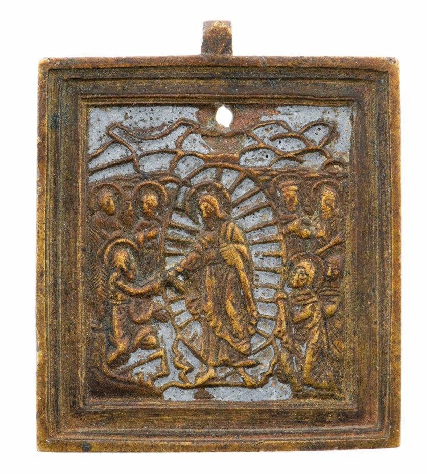 """купить Икона """"Воскресение Христово, Сошествие во ад"""", бронза, литье, эмаль, Российская Империя, 1850-1890 гг."""