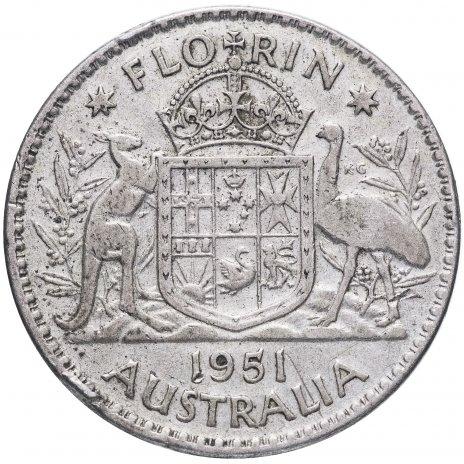 купить Австралия 1 флорин 1951