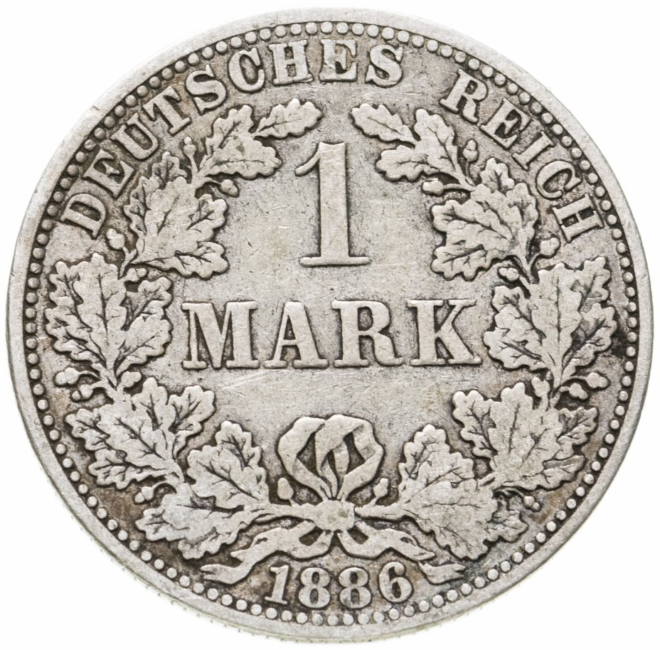 """купить Германская Империя, 1 марка 1886 знак монетного двора: """"A"""" - Берлин"""