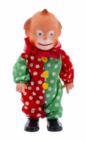 """купить Кукла с механическим заводом """"Клоун"""", резина, пластик, ткань, металл, СССР, 1970-1990 гг."""