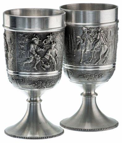 """купить Пара кубков для вина """"Мушкетеры"""", олово, Германия, 1970-1990 гг."""