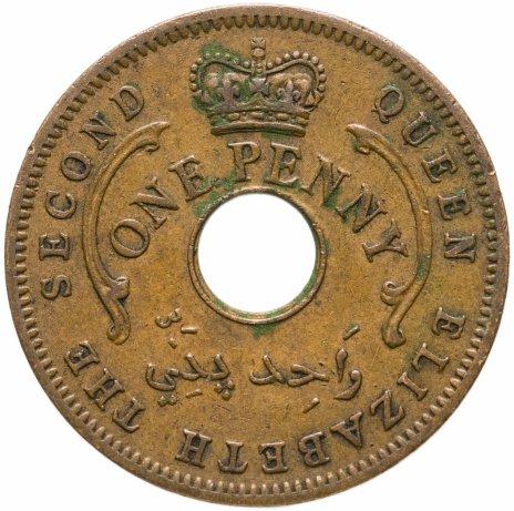 купить Нигерия 1 пенни (penny) 1959