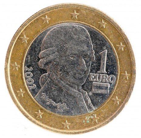 купить Австрия 1 евро 2002