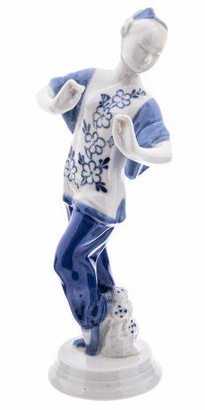 """купить Статуэтка """"Китайский танец"""", фарфор, подглазурная роспись, СССР, 1950-1980 гг."""