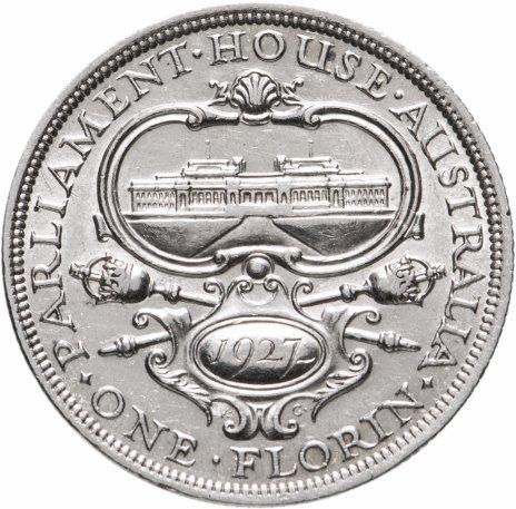 """купить Австралия 1 флорин 1927 """"Открытие здания парламента в Канберре"""""""
