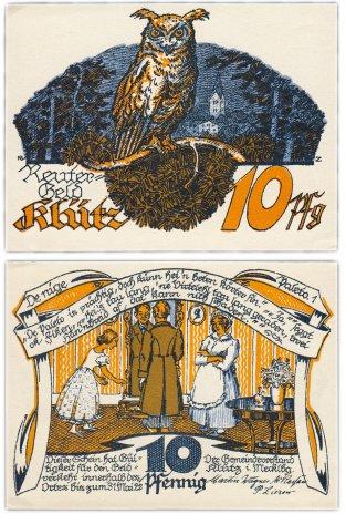 купить Германия (Мекленбург-Шверрин: Клюц) 10 пфеннигов 1922 (B2)
